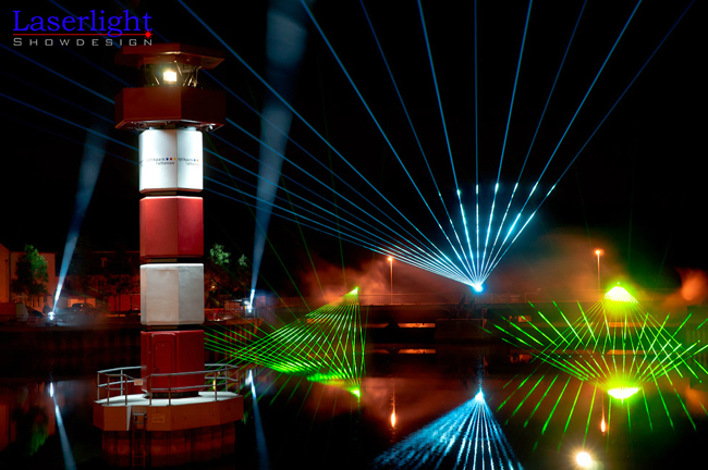 Outdoor Lasershow Laserlight Showdesign Berlin